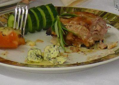 Fleisch weißer Teller