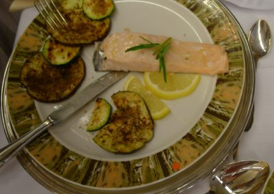 Lachs roter Teller